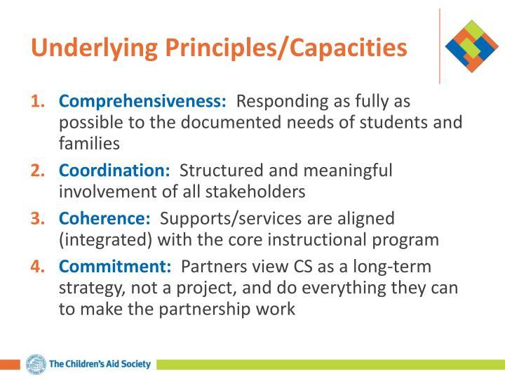 Underlying Principles/Capacities