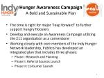 hunger awareness campaign a bold and sustainable plan