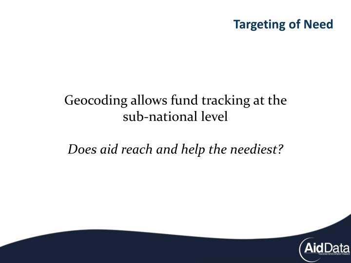 Targeting of Need