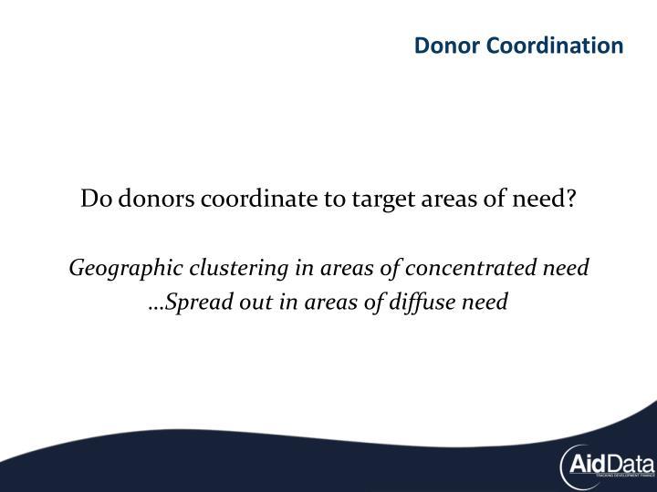 Donor Coordination