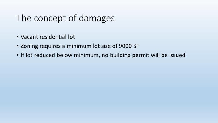 The concept of damages