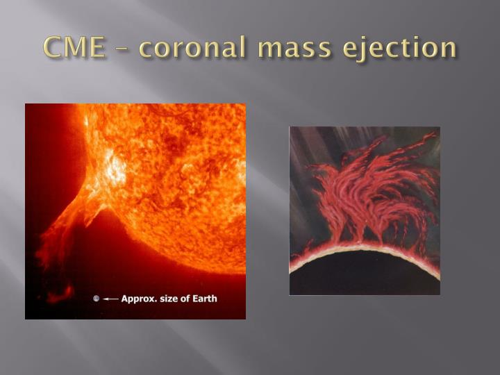 CME – coronal mass ejection