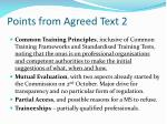 points from agreed text 2