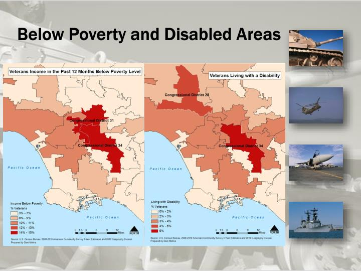 Below Poverty and Disabled Areas