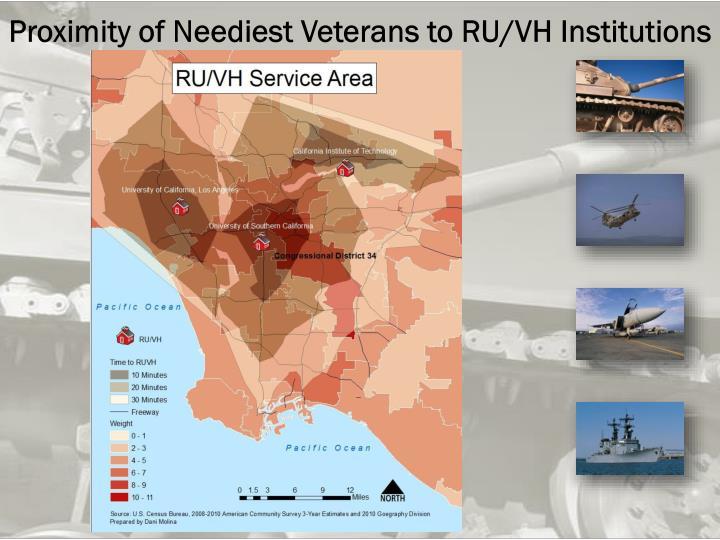 Proximity of Neediest Veterans to RU/VH Institutions