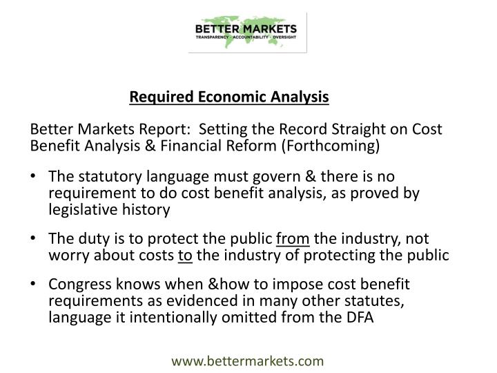 Required Economic Analysis