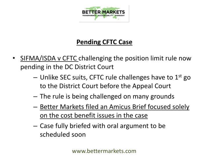 Pending CFTC Case
