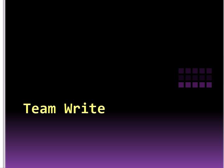 Team Write