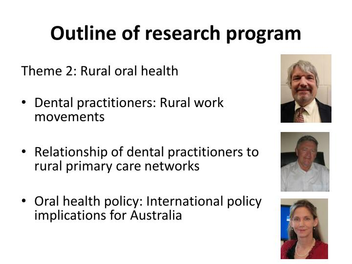 Outline of research program