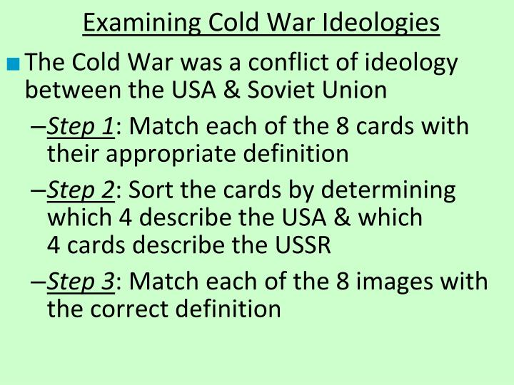 Examining Cold War Ideologies