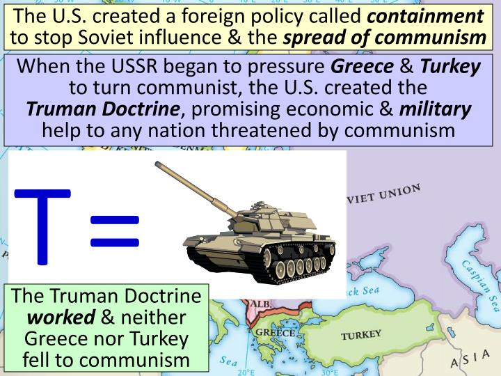 The U.S. created a foreign policy called