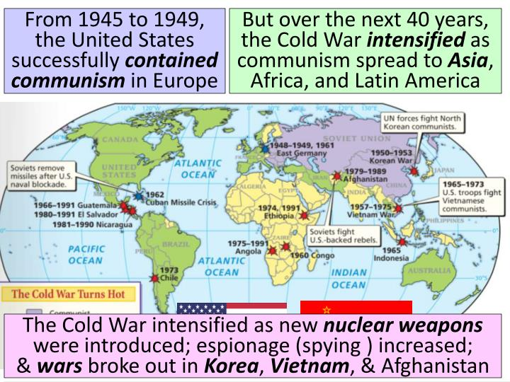 From 1945 to 1949, the United States successfully