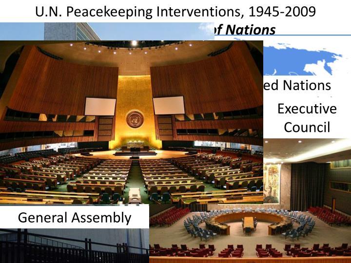 U.N. Peacekeeping Interventions, 1945-2009