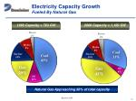 electricity capacity growth fueled by natural gas