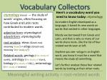vocabulary collectors1