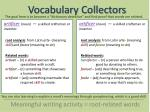 vocabulary collectors14