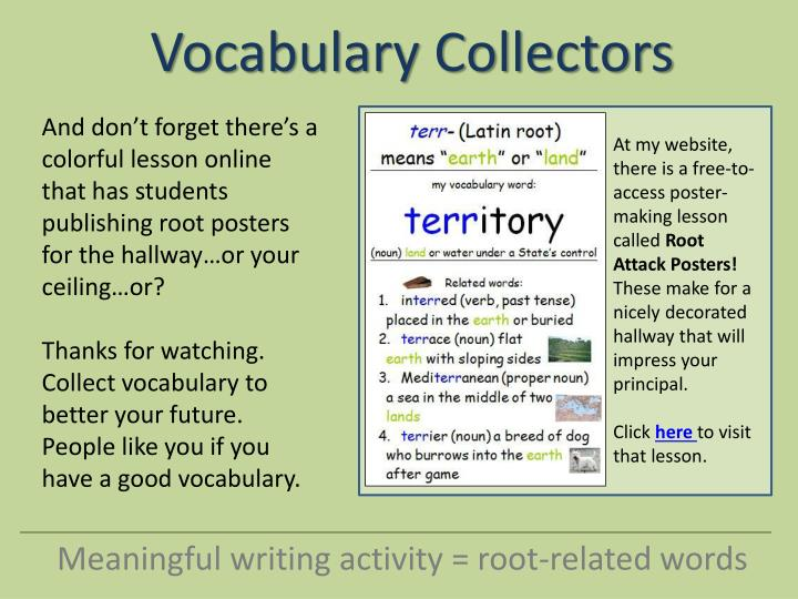 And don't forget there's a colorful lesson online  that has students publishing root posters for the hallway…or your ceiling…or?