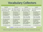 vocabulary collectors6