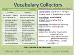 vocabulary collectors9