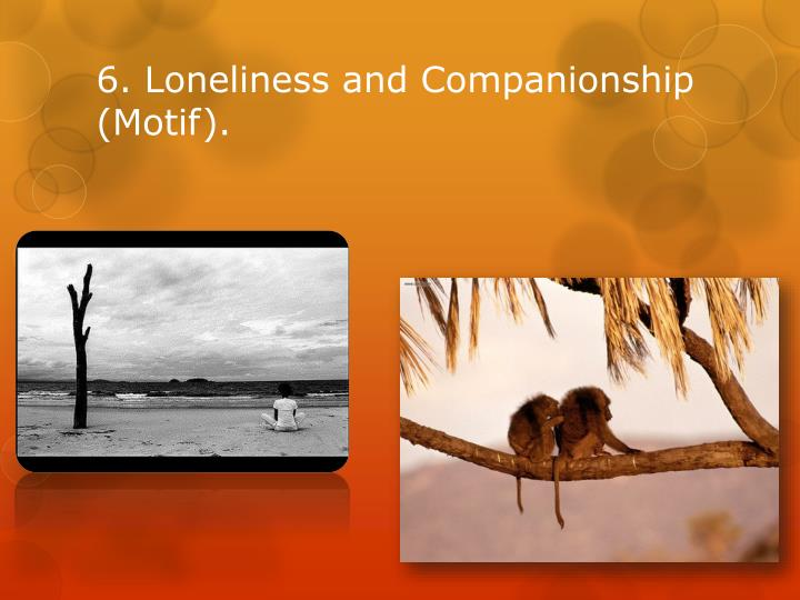 6. Loneliness and Companionship (Motif).