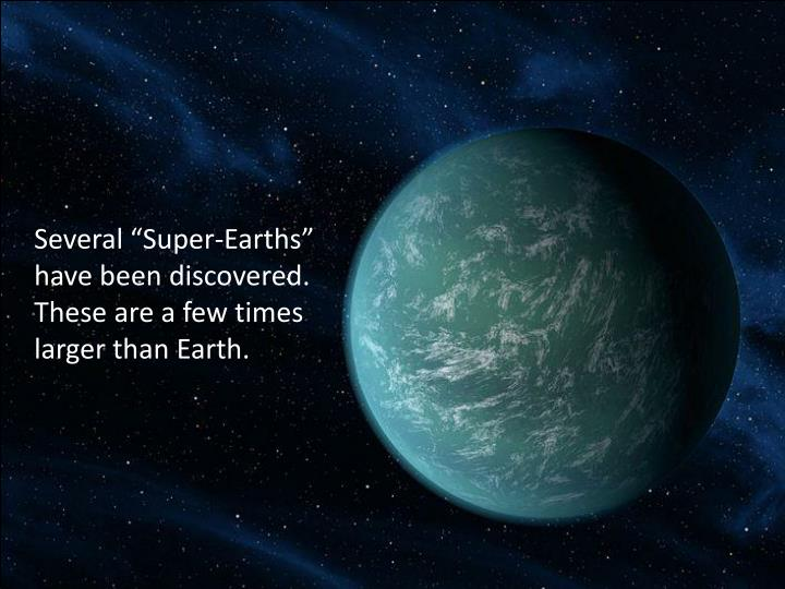"Several ""Super-Earths"""