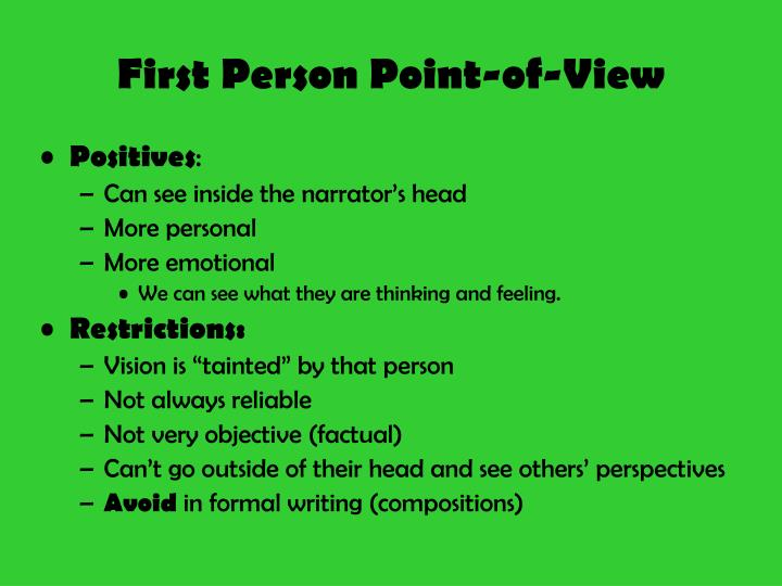 First Person Point-of-View