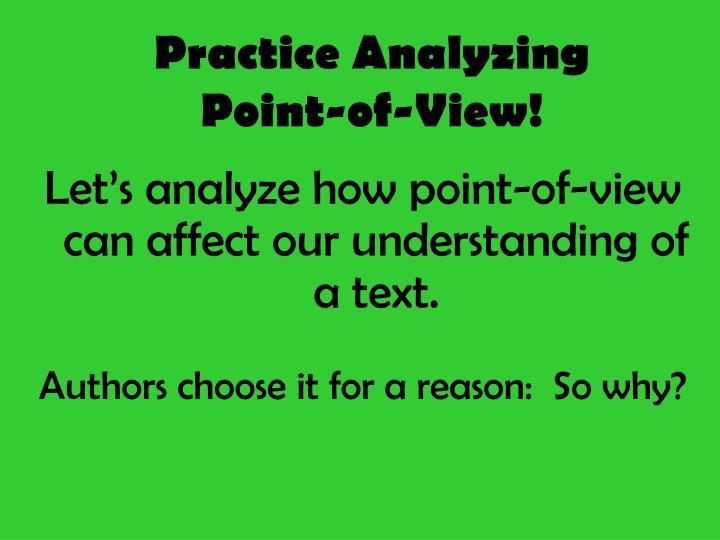 Practice Analyzing
