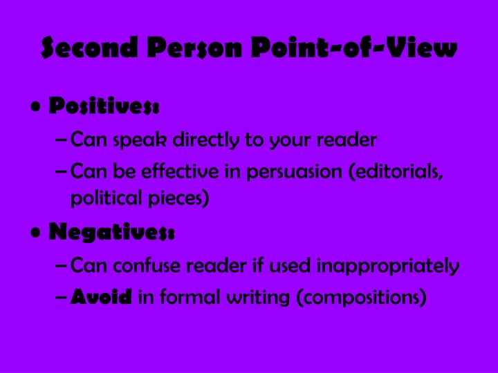 Second Person Point-of-View