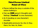 third person limited point of view
