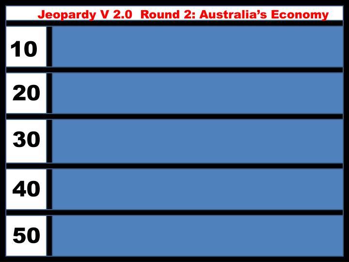 Jeopardy V 2.0  Round 2: Australia's Economy