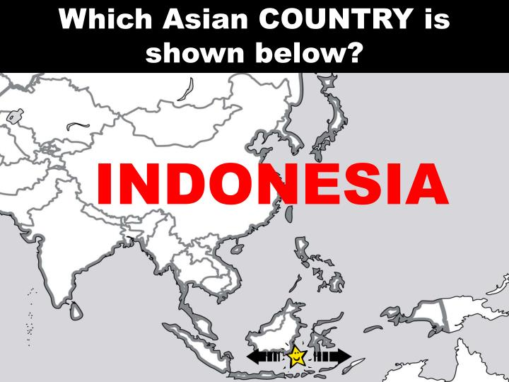 Which Asian COUNTRY is shown below?