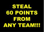 steal 60 points from any team