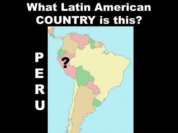What Latin American