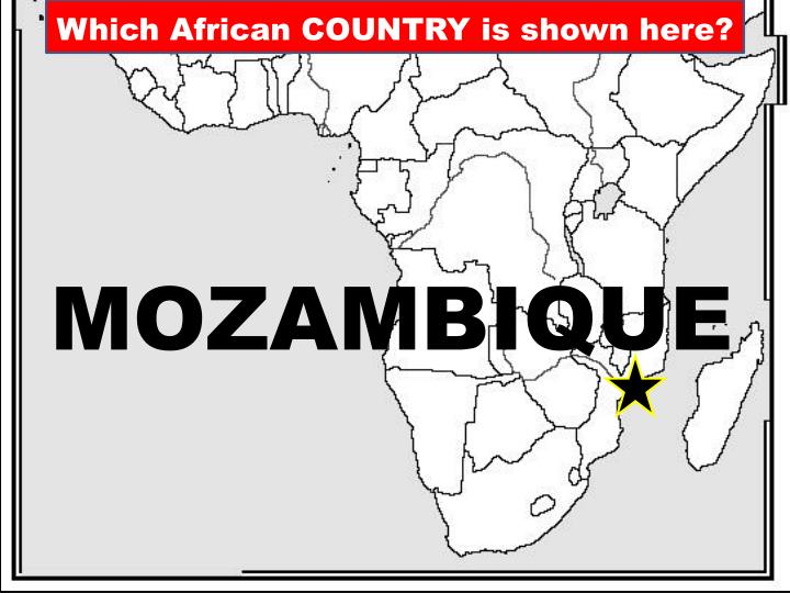 Which African COUNTRY is shown here?