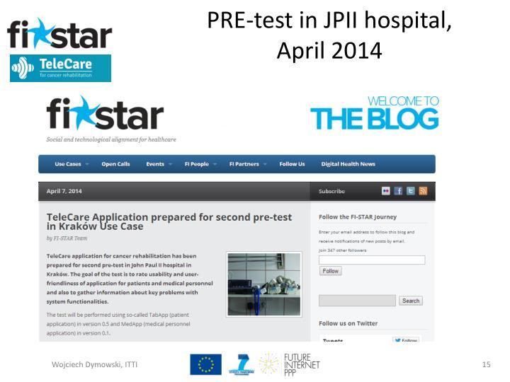 PRE-test in JPII