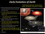 early evolution of earth