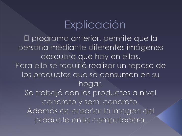 Explicación
