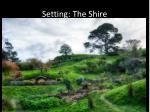setting the shire