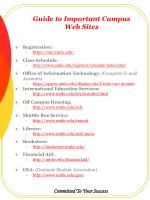guide to important campus web sites