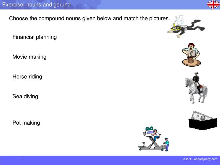 Exercise  nouns and gerund