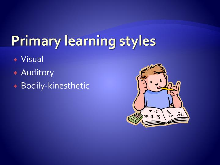 Primary learning styles