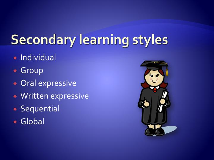 Secondary learning styles