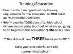 training education