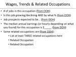 wages trends related occupations