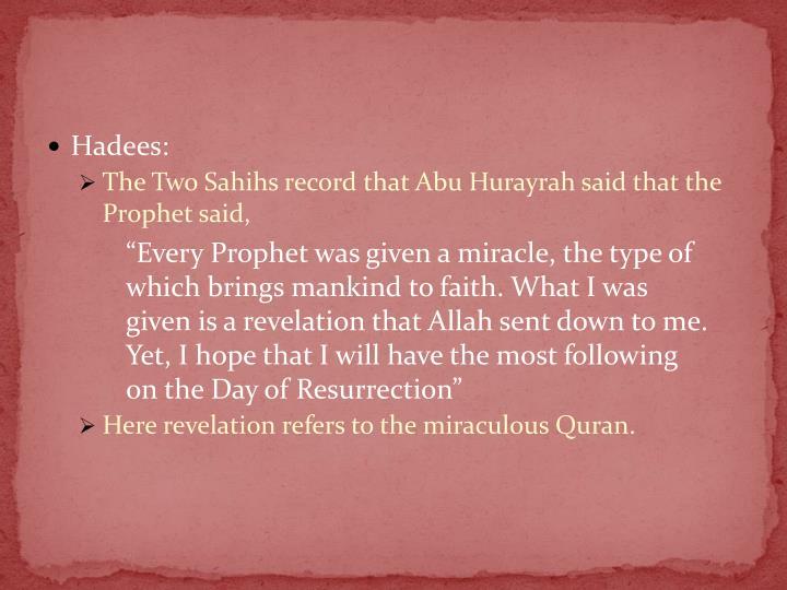 Hadees: