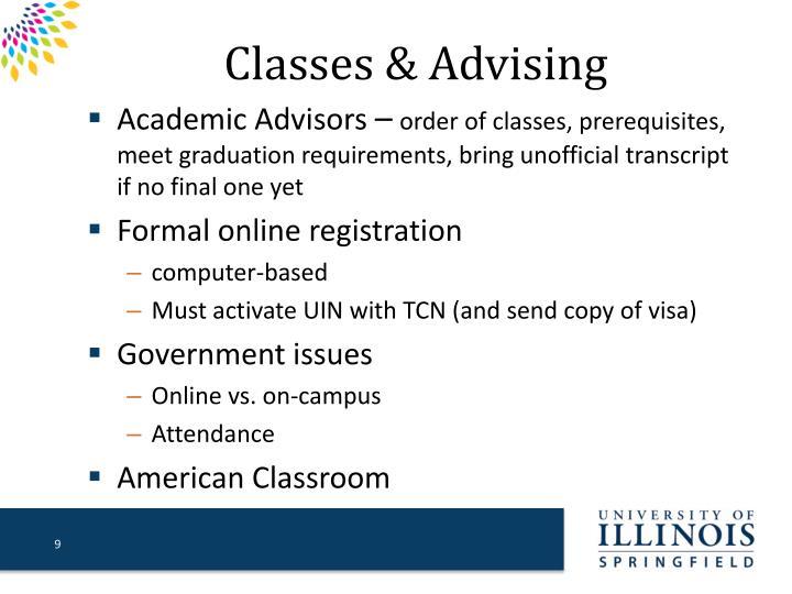 Classes & Advising