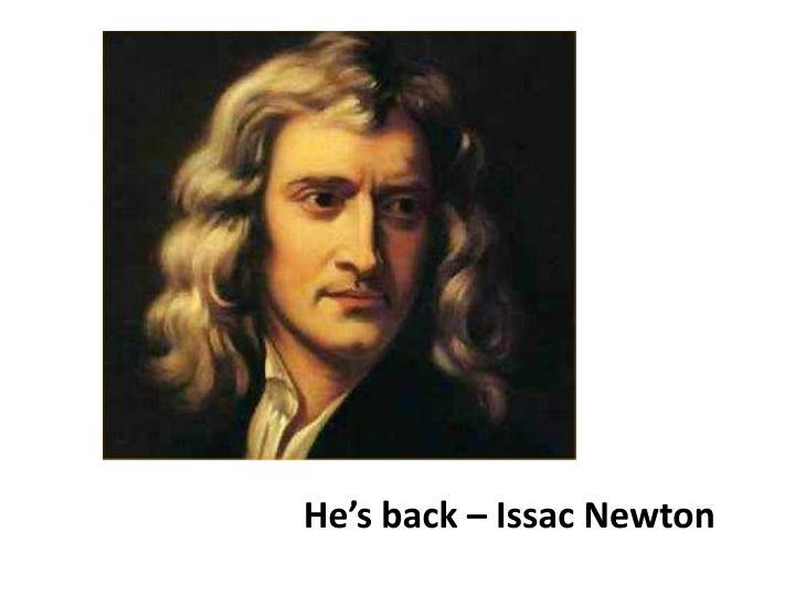 He's back –