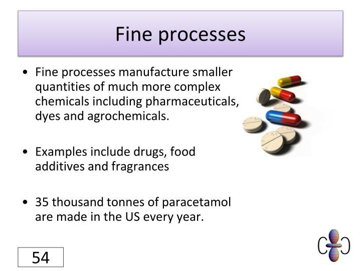 Fine processes