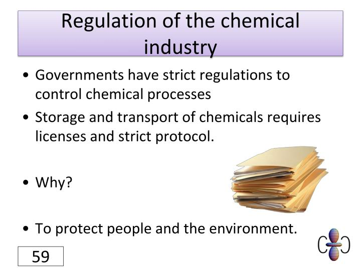 Regulation of the chemical industry