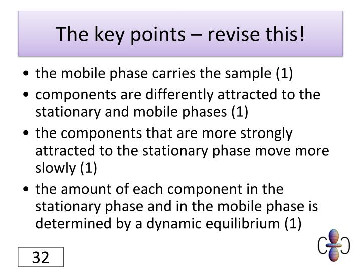 The key points – revise this!